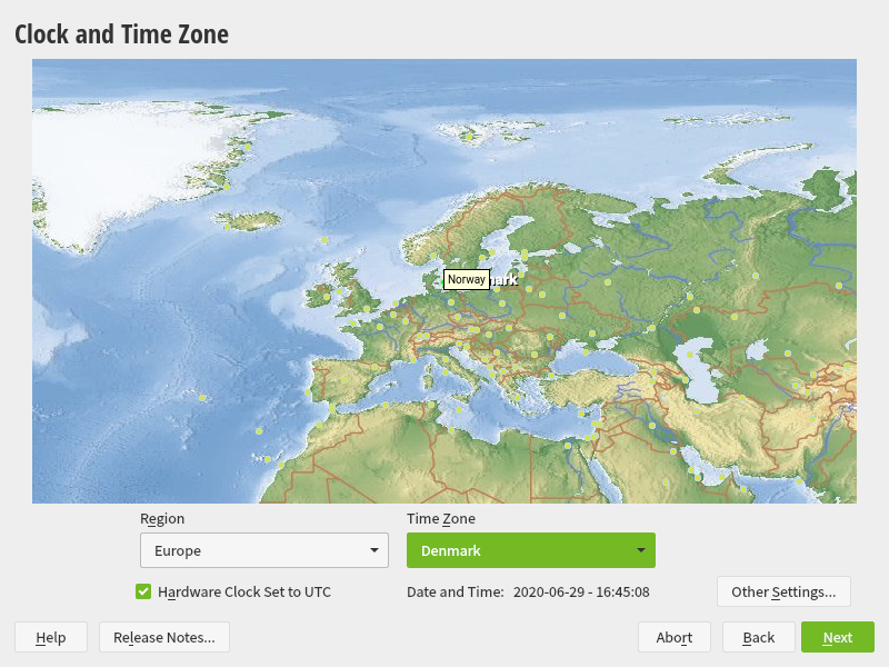 how to set time in suse linux